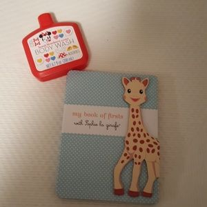 Other - Sophie la girafe baby book and Minnie body wash
